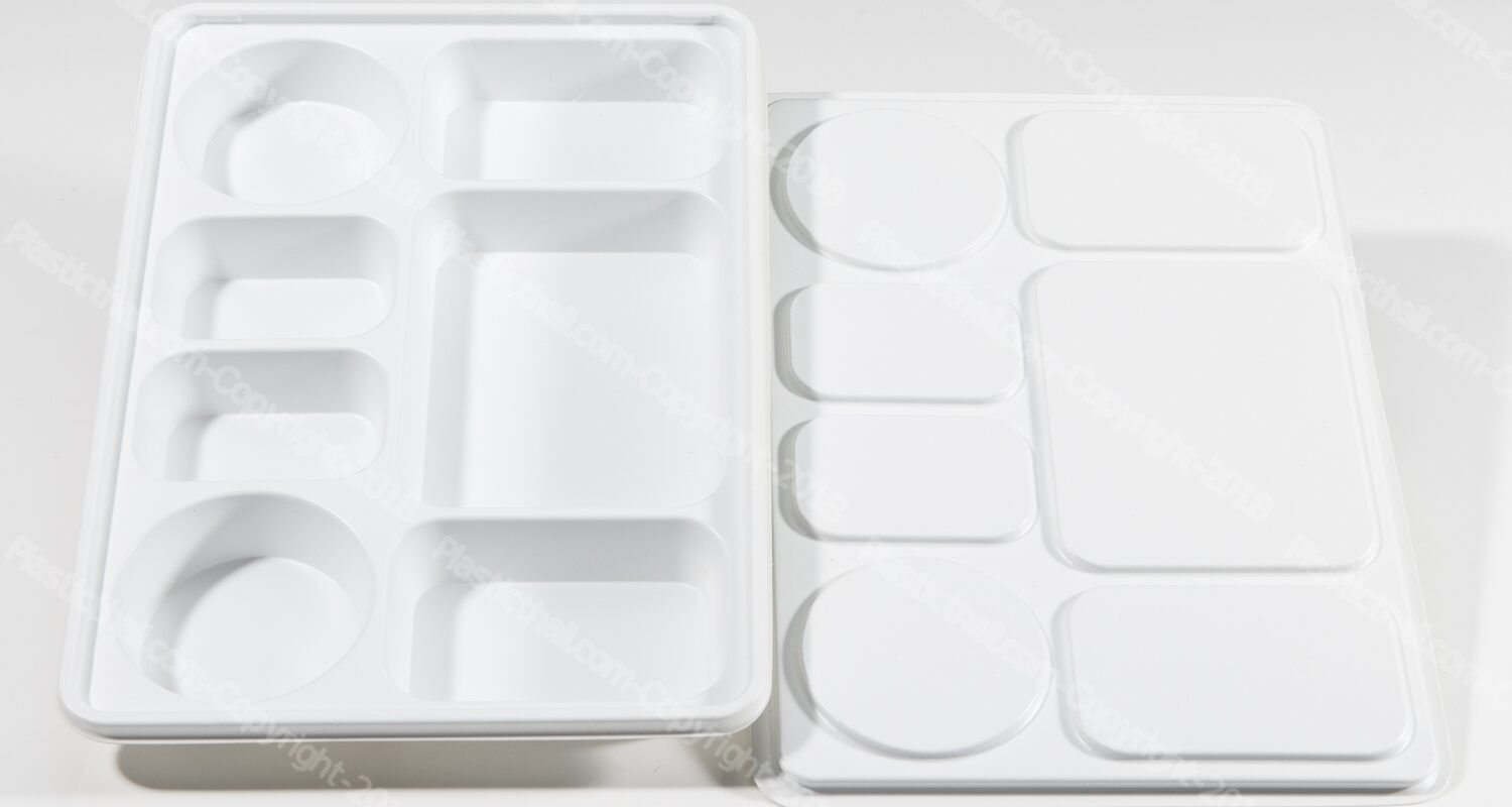 7 compartment disposable plastic plates with lid 3