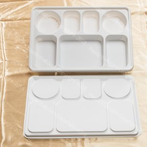 7 compartment disposable plastic plates with lid 5