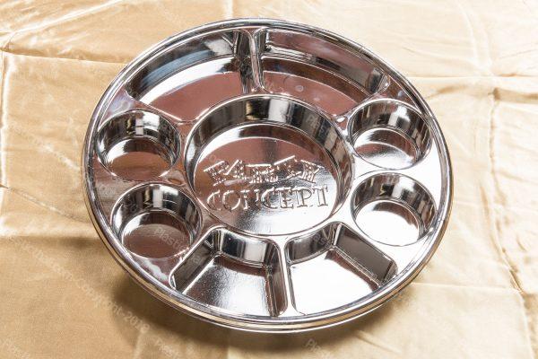 9 compartment disposable silver plastic plates 5