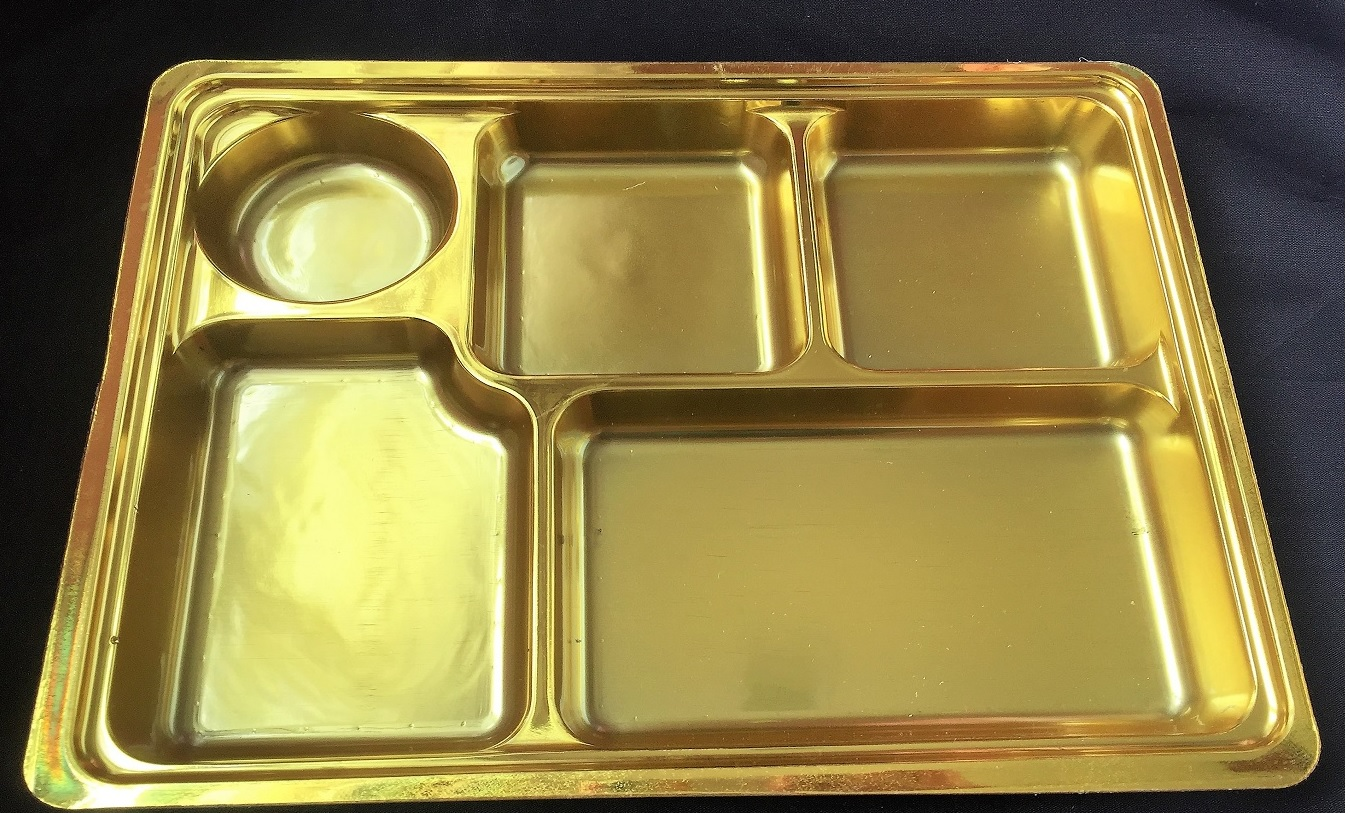 5 compartment gold plates