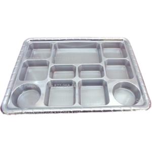 Silver color 11 compartment plastic thali